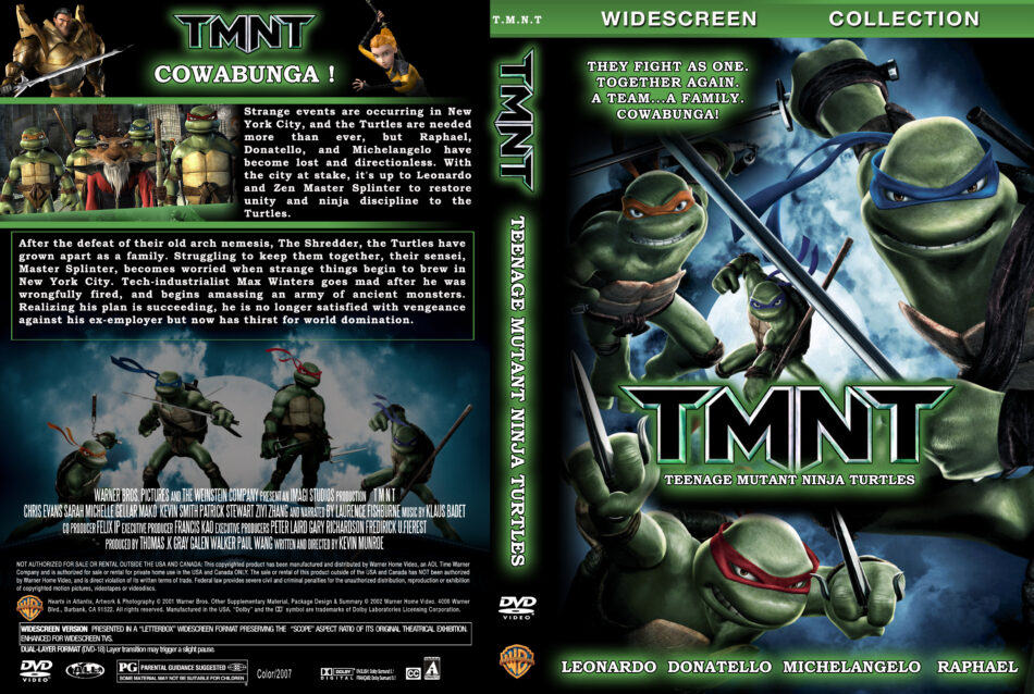 Tmnt 2007 Ws Movie Dvd Cd Label Dvd Cover Front Cover