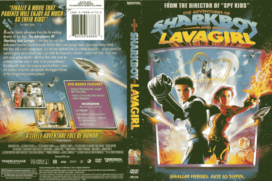 The Adventures of Sharkboy anb Lava Girl (2005) R1 - Movie DVD - Front DVD Cover