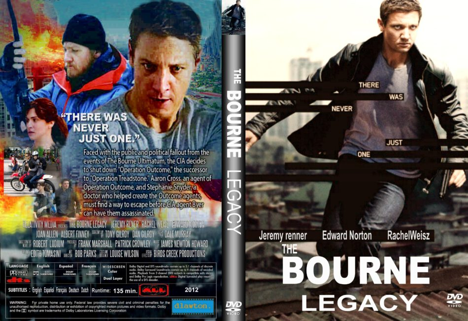 The Bourne Legacy 2012 R1 Custom Movie Dvd Front Dvd Cover