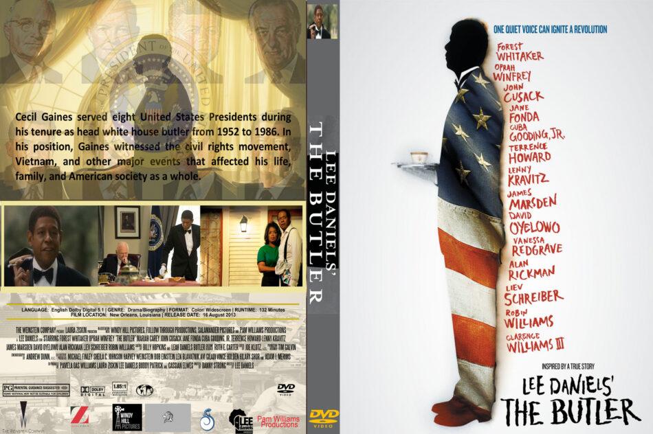 The Butler 2013 R1 Custom Movie Dvd Front Dvd Cover