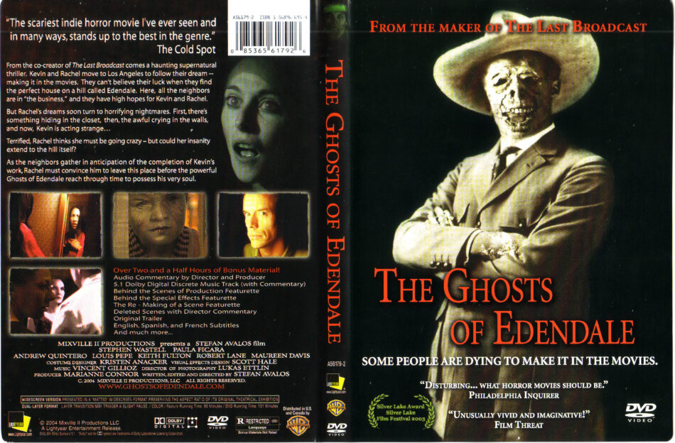 The Ghosts of Edendale (2003) WS R1 - Movie DVD - front DVD
