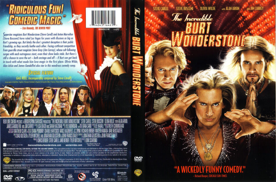 The Incredible Burt Wonderstone 2013 Ws R1 Movie Dvd Front Dvd Cover