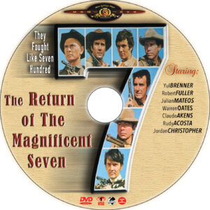 the return of magnificent seven dvd label