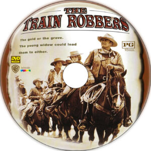 the train robbers dvd label