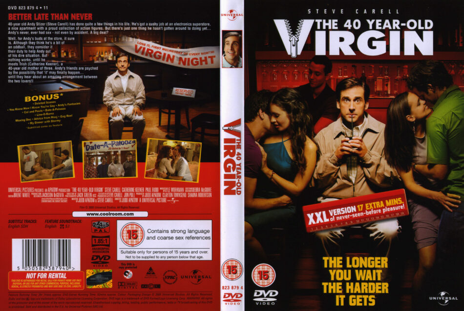 The 40 Year Old Virgin 2005 R2 Movie Dvd Cd Label Dvd Cover Front Cover