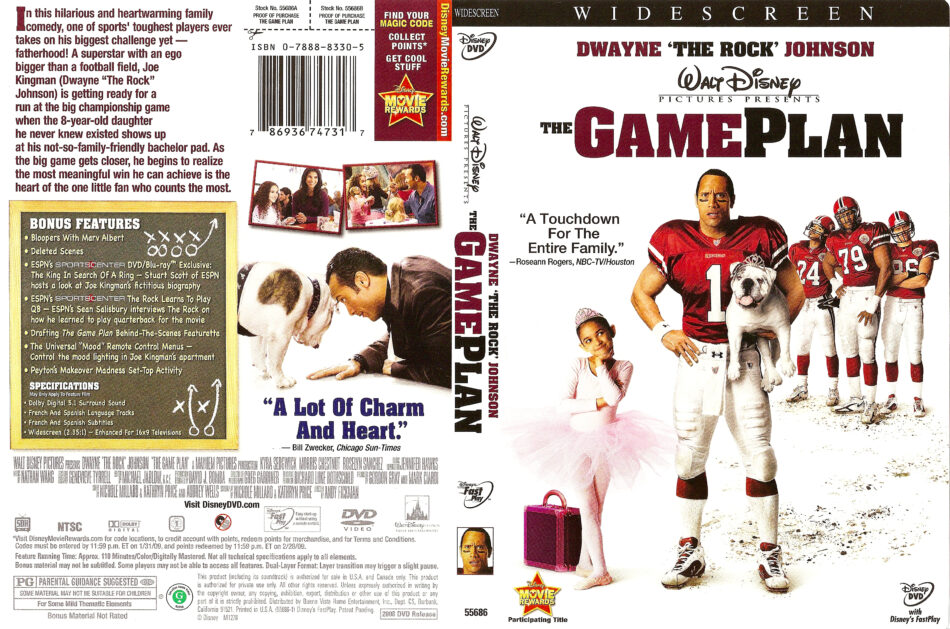 The Game Plan (2007) WS R1 - Movie DVD - CD Label, DVD Cover