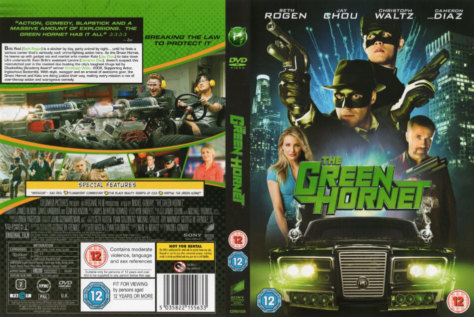 The Green Hornet 2011 R2 Movie Dvd Cd Label Dvd Cover Front Cover