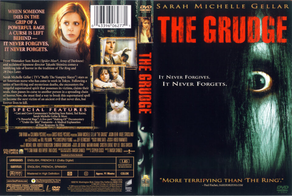 The Grudge 2004 Ws R1 Movie Dvd Cd Label Dvd Cover Front Cover