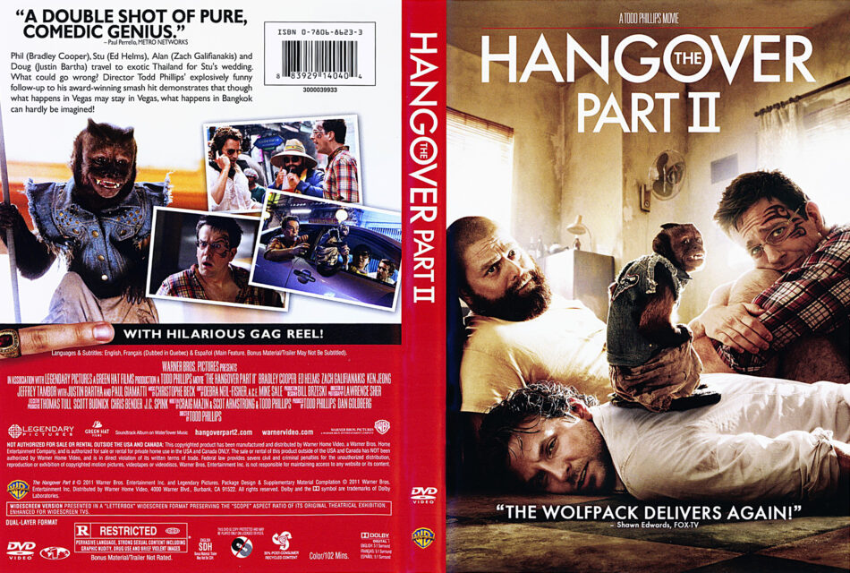 The Hangover Part Ii 2011 Ws R1 Movie Dvd