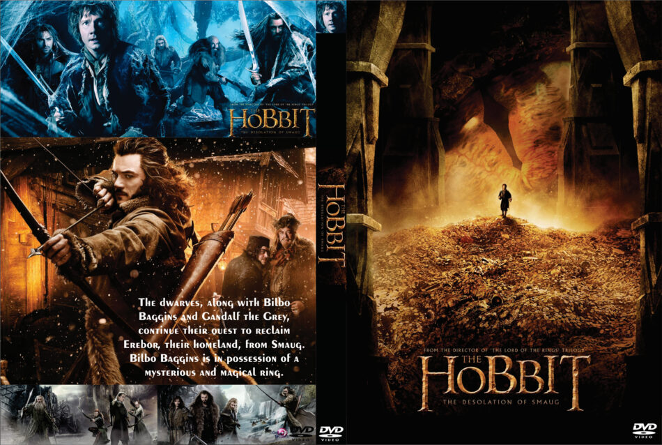 The Hobbit The Desolation Of Smaug Dvd Cover 2013 Custom Art
