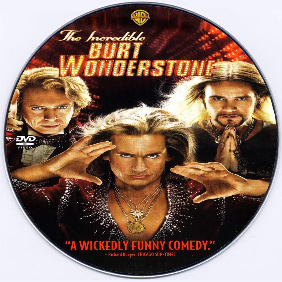 The Incredible Burt Wonderstone DVD Label (2013) Custom Art