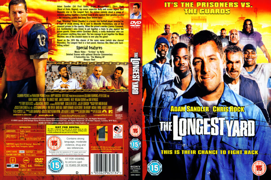 The Longest Yard 2005 R2 Movie Dvd Cd Label Dvd Cover Front Cover