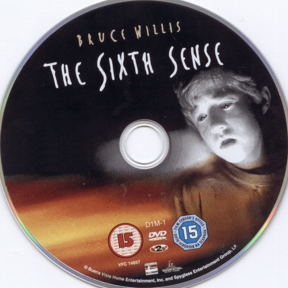 The Sixth Sense 1999 Ce R1 R2 Movie Dvd Cd Label Dvd Cover Front C0ver
