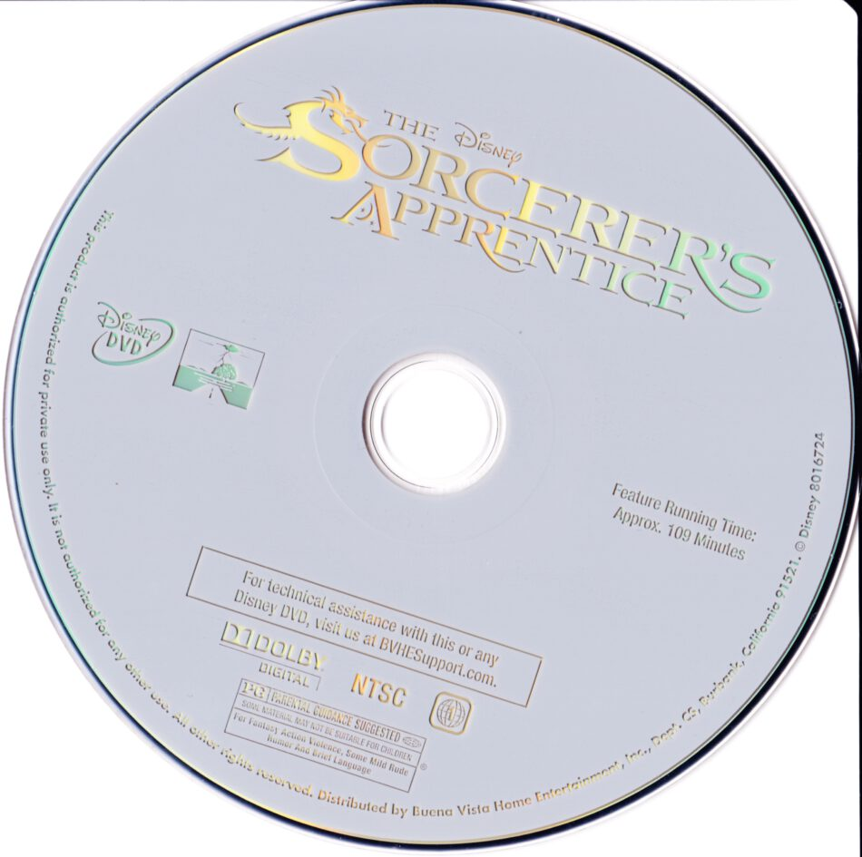 The Sorcerer S Apprentice 2010 R1 Movie Dvd Cd Label Dvd Cover Front Cover
