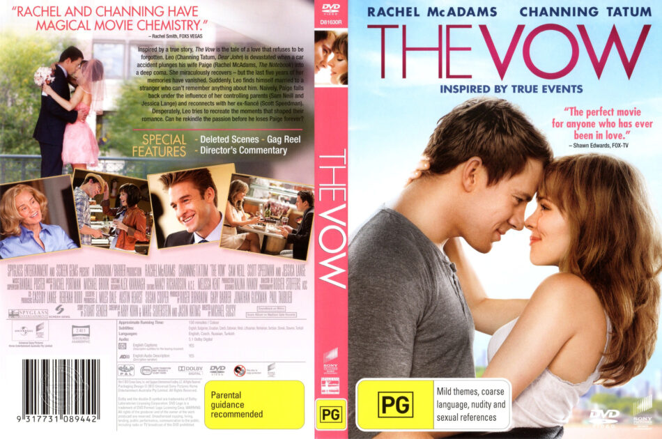 The Vow 2012 R4 Movie Dvd Cd Label Dvd Cover Front Cover