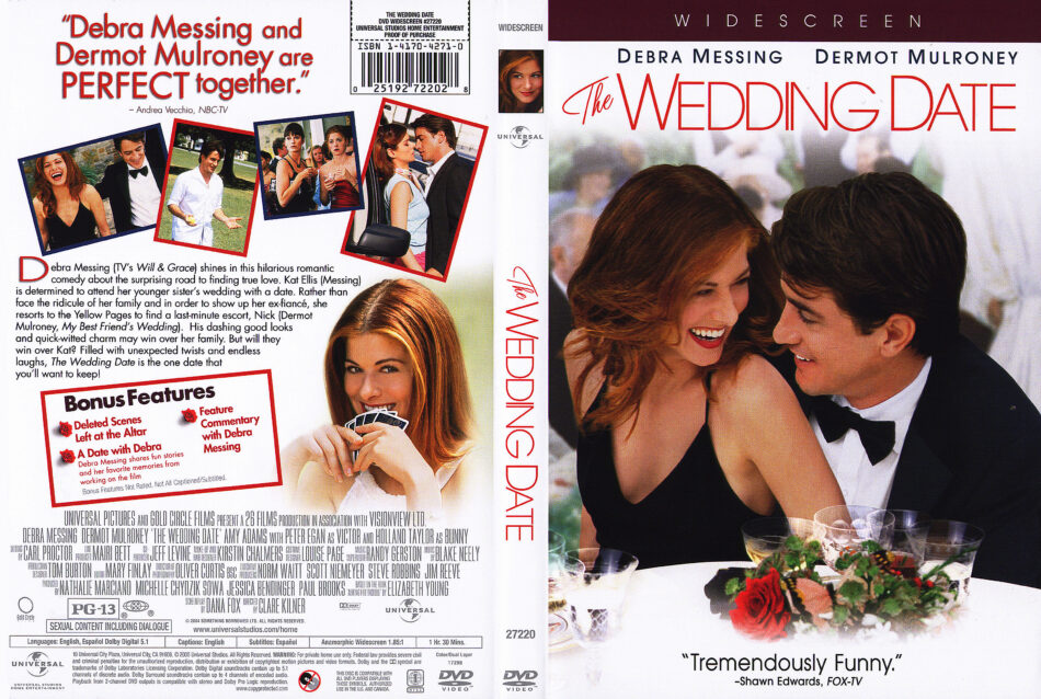 The Wedding Date 2005 Ws R1 Movie Dvd Cd Label Dvd Cover Front Cover
