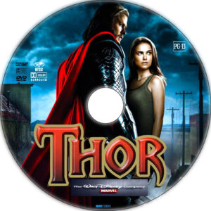 thor dvd label