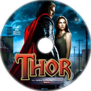 thor dvd label