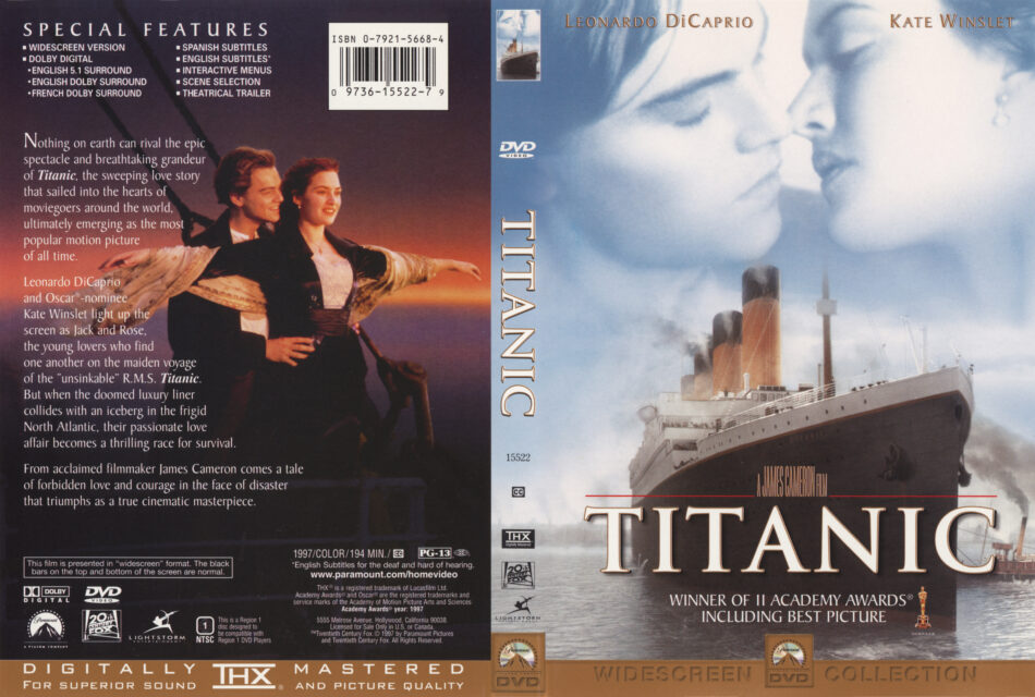 Titanic Movie Dvd Cd Cover Dvd Cover Front Cover
