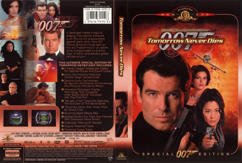 Tomorrow Never Dies 1997 Se R1 Movie Dvd Cd Label Dvd Cover Front Cover