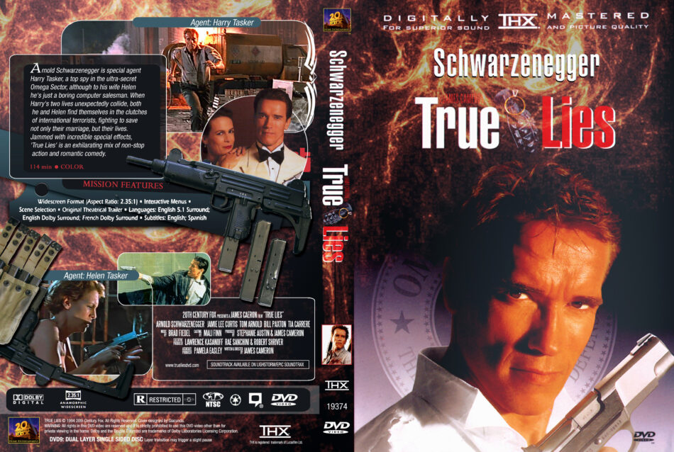 True Lies 1994 R1 Movie Dvd Cd Label Dvd Cover Front Cover