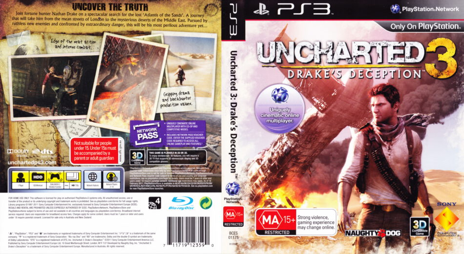Uncharted 3 Drake S Deception 2011 R4 Playstation 3 Cd