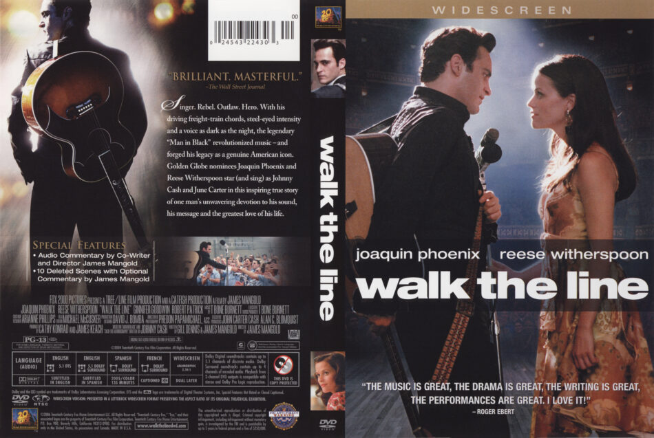 ab2622021ec Walk The Line (2005) WS R1 - Movie DVD - CD Label, DVD Cover, Front ...
