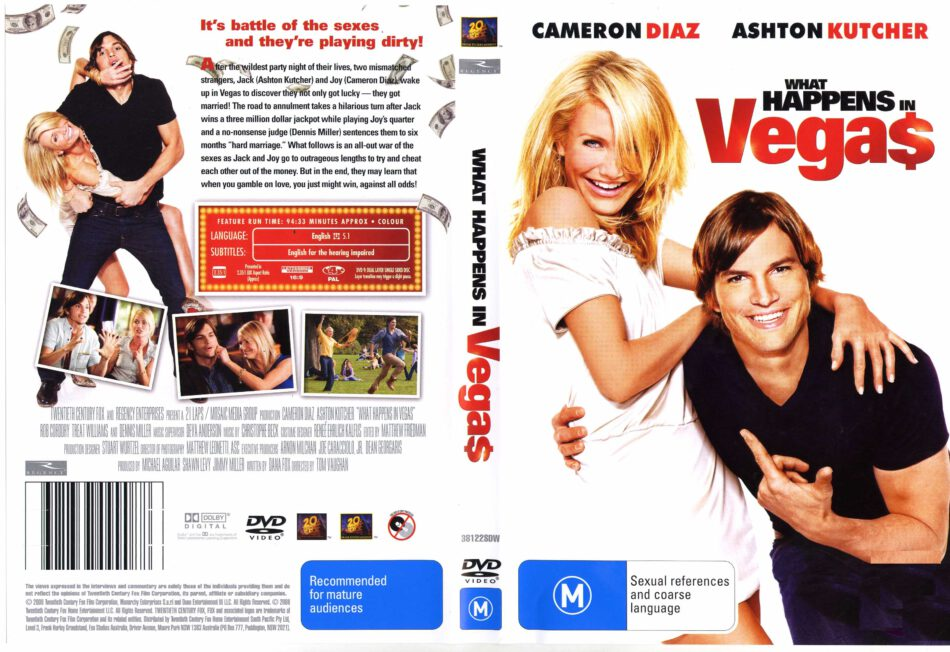 What Happens In Vegas 2008 R4 Movie Dvd Cd Label Dvd Cover Front Cover