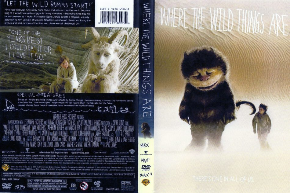 Where The Wild Things Are (2009) R1 - Movie DVD - CD Label ...