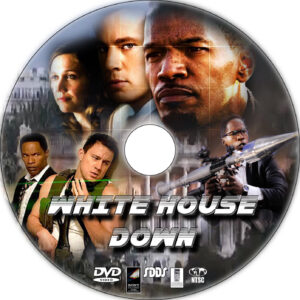 white house down dvd label