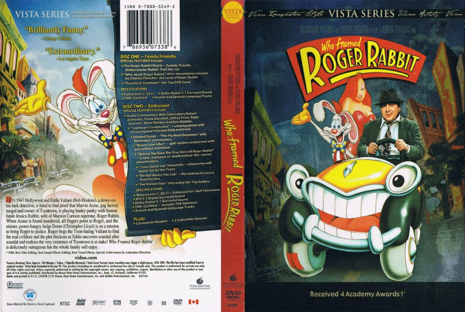 Who Framed Roger Rabbit 1988 R1 Cartoon Dvd Cd Label Dvd Cover Front Cover