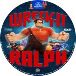 Wreck It Ralph (2012) R0 Custom Blu-Ray/DVD Labels