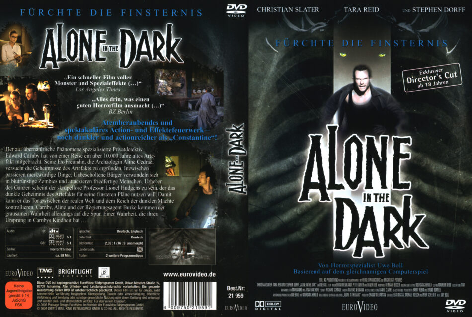 Alone In The Dark Dvd Cover 2005 R2 German