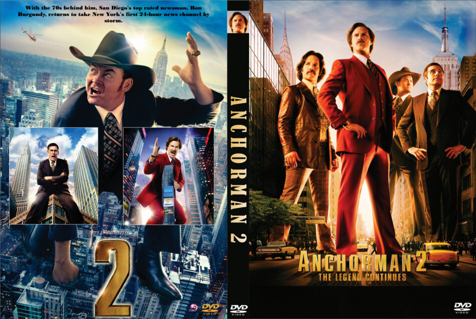 Anchorman 2 The Legend Continues Dvd Cover 2013 R0 Custom Art