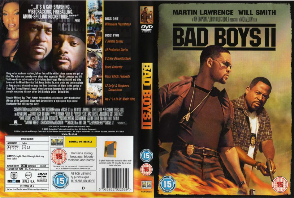 Bad Boys Ii 2003 Ws R2 Movie Dvd Cd Label Dvd Cover Front Cover