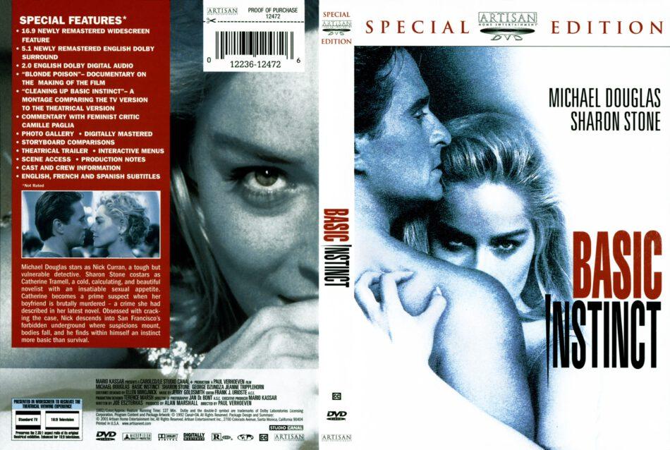 Basic Instinct 1992 Se Ws R1 Movie Dvd Cd Label Dvd Cover Front Cover