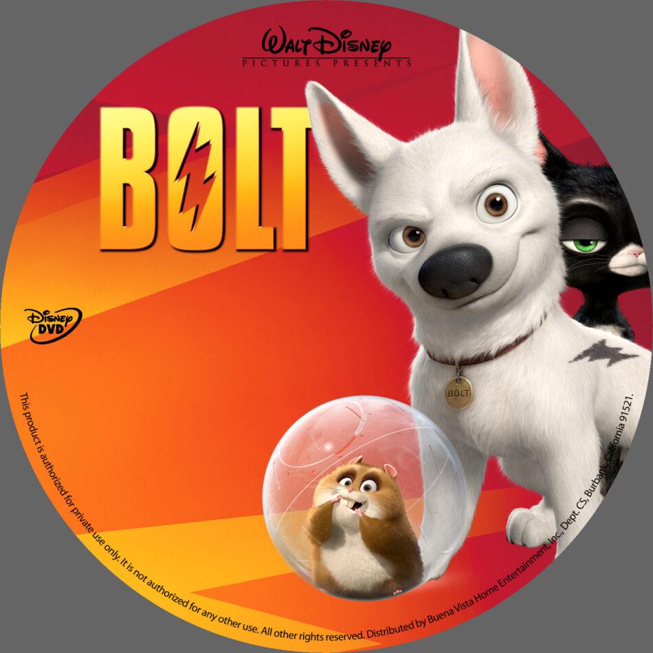 Bolt 2008 R1 Cartoon Dvd Cartoon Dvd Cd Label Dvd Cover Front Cover
