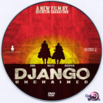 Django Unchained (2012) R0 Custom DVD Label