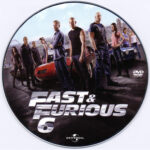Fast & Furious 6 (2013) R0 Custom DVD Label