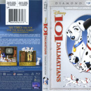 101 Dalmatians (1961) Blu-Ray DVD Cover & Label