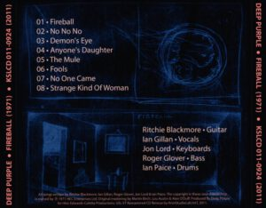 2011 Deep Purple - Fireball - Back