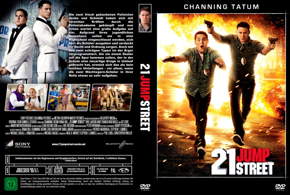 21 Jump Street Dvd Cover 2012 German Custom