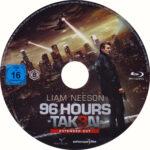 96 Hours – Taken 3 – Extended Cut – (2014) German Blu-ray Label