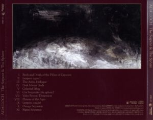 Agalloch - The Serpent & The Sphere (Japan) - Back