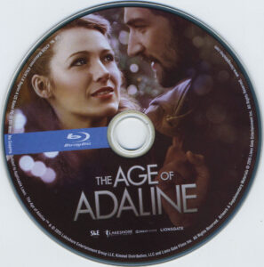 the age of adaline blu-ray dvd label