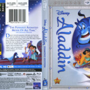 Aladdin: Diamond Edition (1992) R1 Blu-Ray DVD Cover & Label