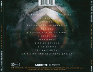 All That Remains - The Order Of Things - Back