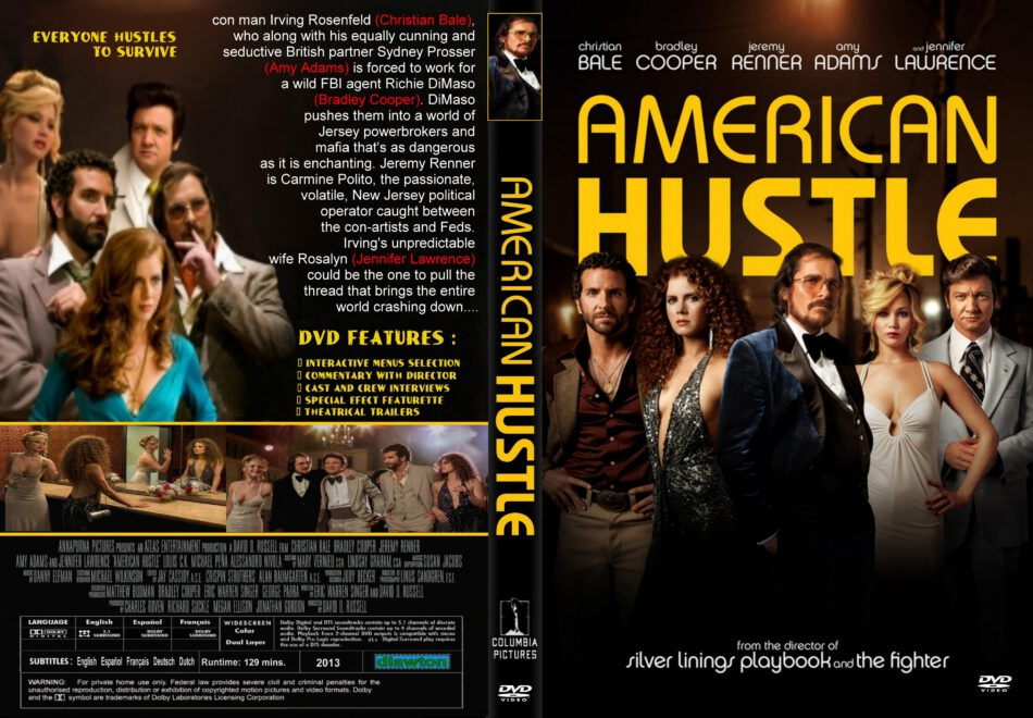 American Hustle Dvd Cover 2013 R1 Custom