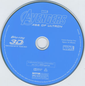 avengers age of ultron blu-ray dvd label