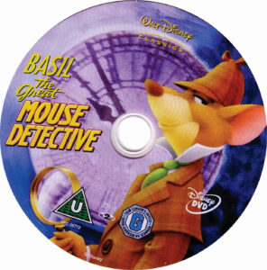 Basil The Great Mouse Detective dvd label